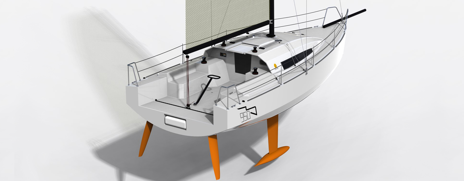 Buzzard 950 racing sailboat | Bedard Yacht Design