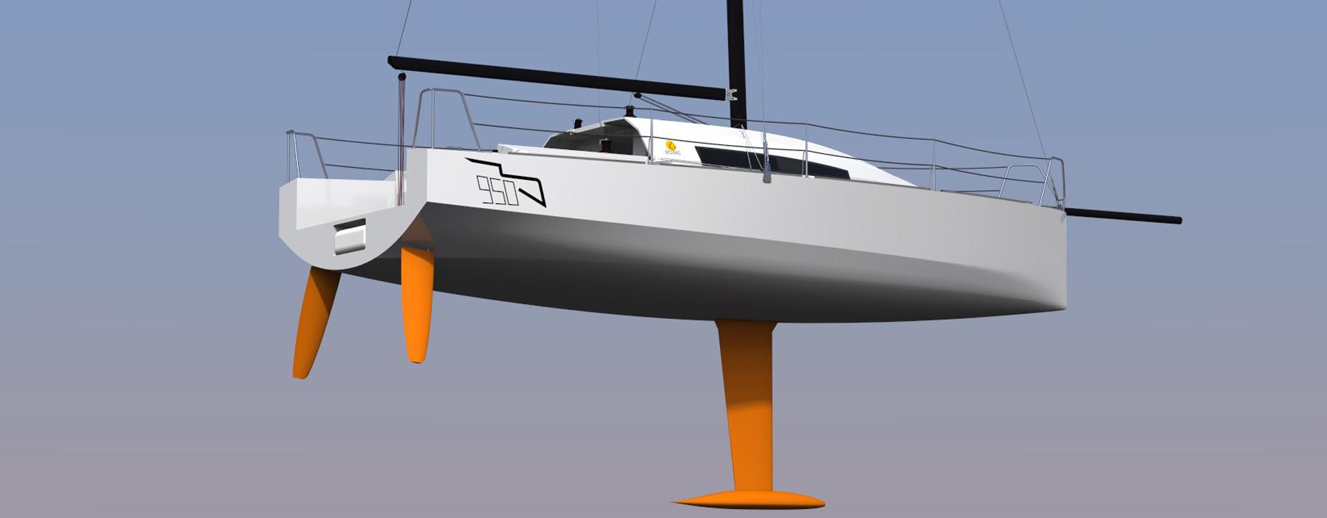 Classe 950 course au large voile voilier sous la flotaison