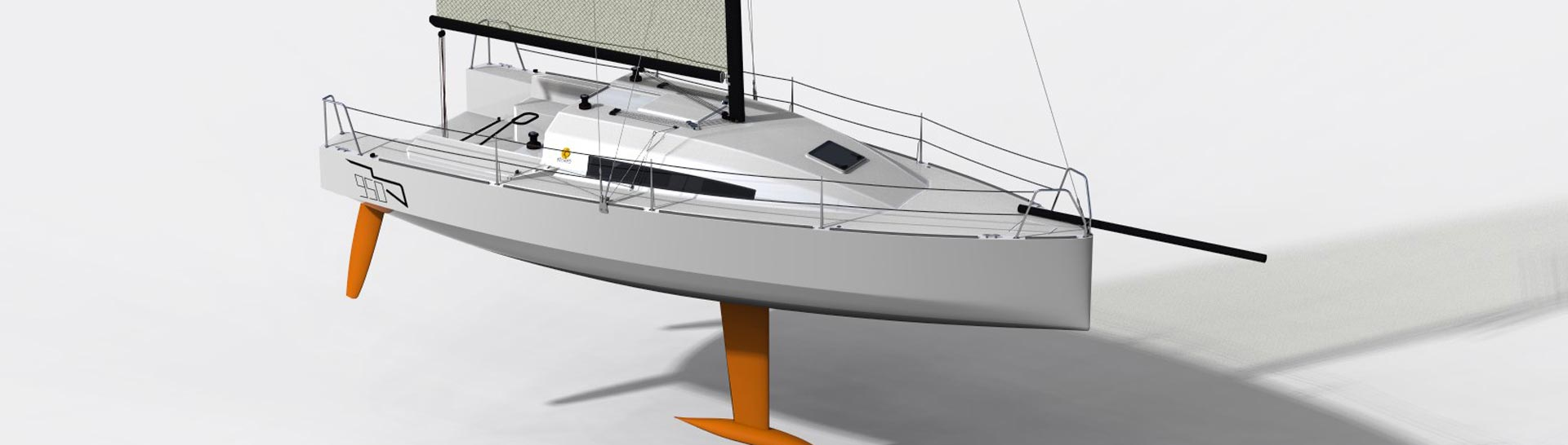 water ballasted racing sloop, classe 950, offshore racing