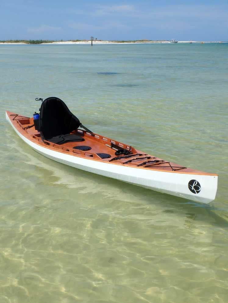 Fishing Yak Wooden Stitchglue Bedard Yacht Design SOT Kayak