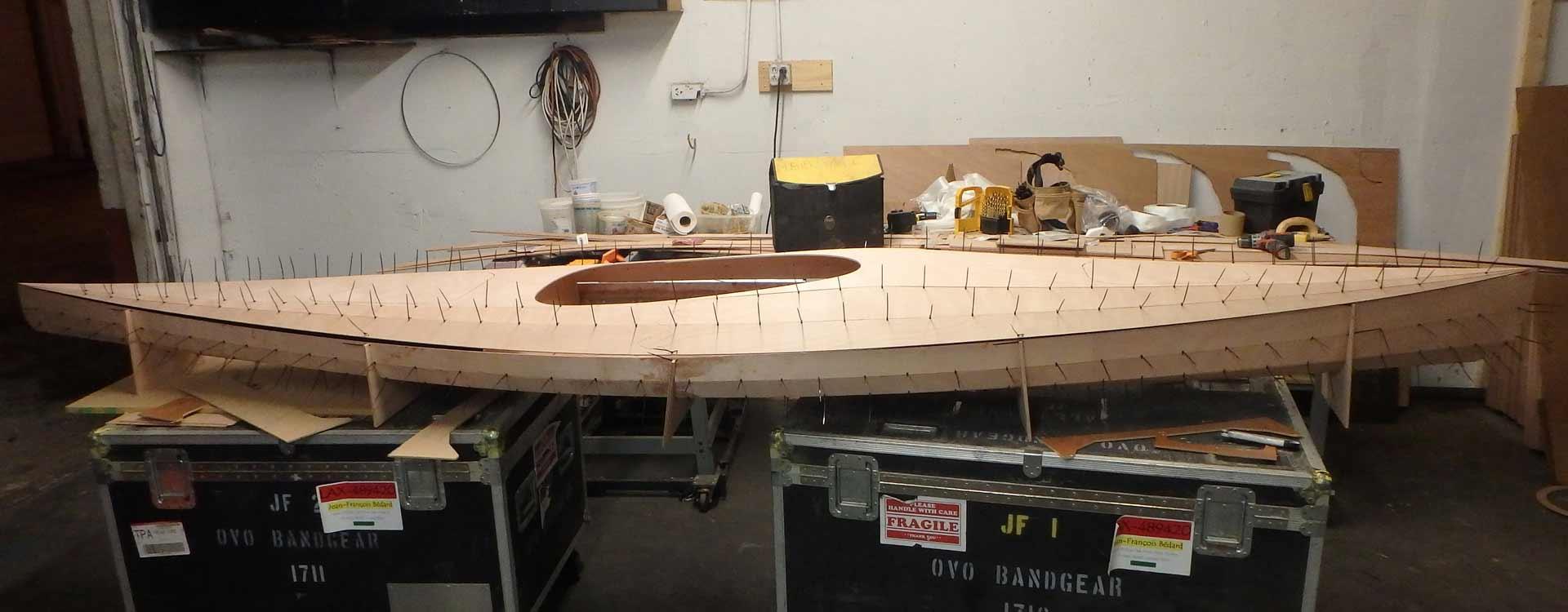 Sit in stitch anglue glue kayak kit